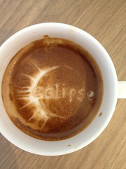 Today's latte, Eclipse.