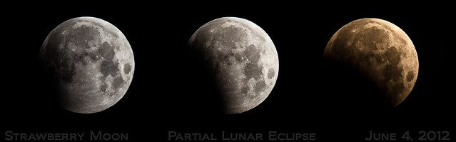 Strawberry Moon, Partial Lunar Eclipse 2012