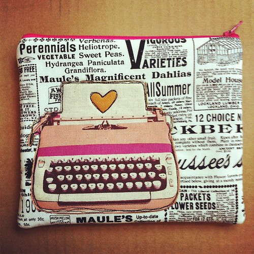 Typewriter Pouch by jenib320