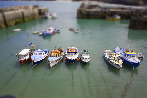Newquay Harbour Tilt Shift