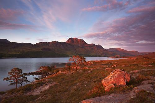 uk sunset scotland highlands lochmaree slioch formatt scotspine thespear hitechfilters lastlighr