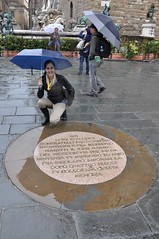 The plaque commemorating Savonarola's execution in Florence