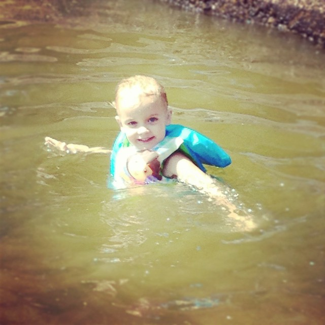 kinley swimming