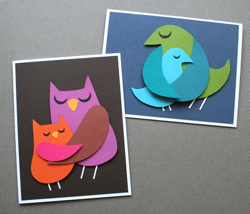 Momma and Baby Bird Cards