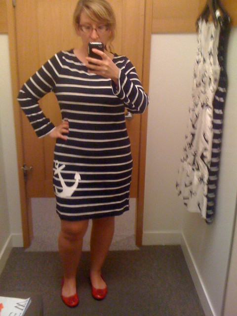 J. Crew anchor dress