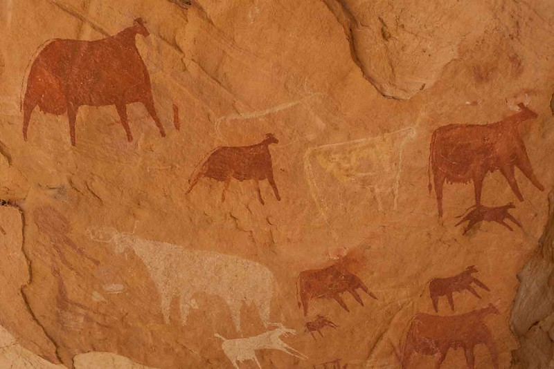 112 Cave paintings near Guelta Archei