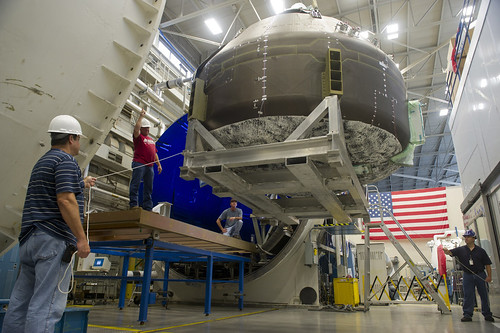 Composite Crew Module, Space Vacuum at Marshall (NASA, CCM, 06/19/12)