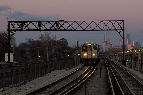 Purple Skies on the Green Line