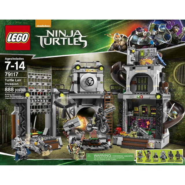 LEGO TMNT 79117  - Turtle Lair Invasion