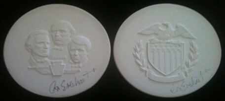 Plasters for National Motto medal 2014