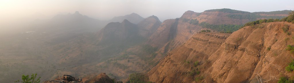 The ghats from Monkey Point, Matheran