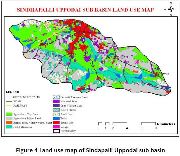 Land use map of Sindapalli Uppodai sub basin