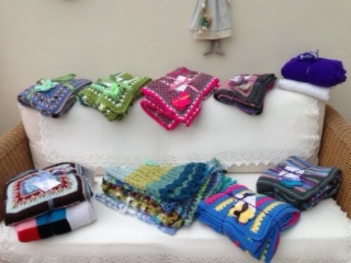 Blankets and Shawls ready for the off.