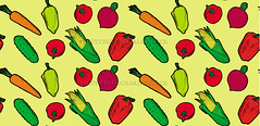 vegetables vector seamless pattern yellow
