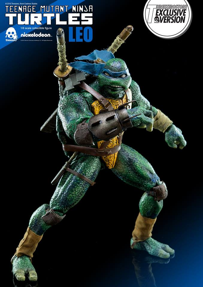 threezero × Kevin Eastman【全新忍者龜:李奧】Leo 1/6 比例人偶作品