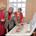 Talking about the lower panel, by Stamford Bridge Tapestry Project