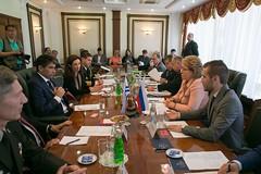 Встреча В. Матвиенко с Вице-президентом Уругвая, Председателем Генеральной Ассамблеи и Сената Уругвая Раулем Сендиком