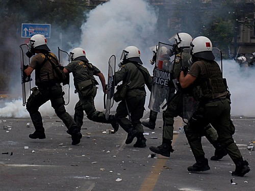 Riot squad going into action - Athens 29th June 2011 by Teacher Dude's BBQ