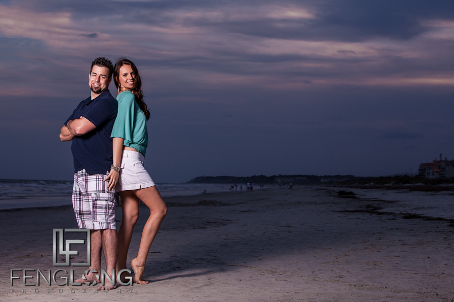 Mirela & Justin's Engagement Session | Folly Field Beach Hilton Head Island, SC | Atlanta Destination Wedding Photographer