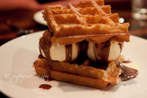 Bedrock Bar & Grill Steakhouse waffle