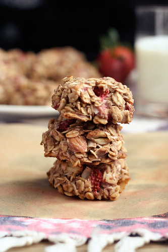 Strawberry Coconut Breakfast Cookies - Gluten-free + Vegan