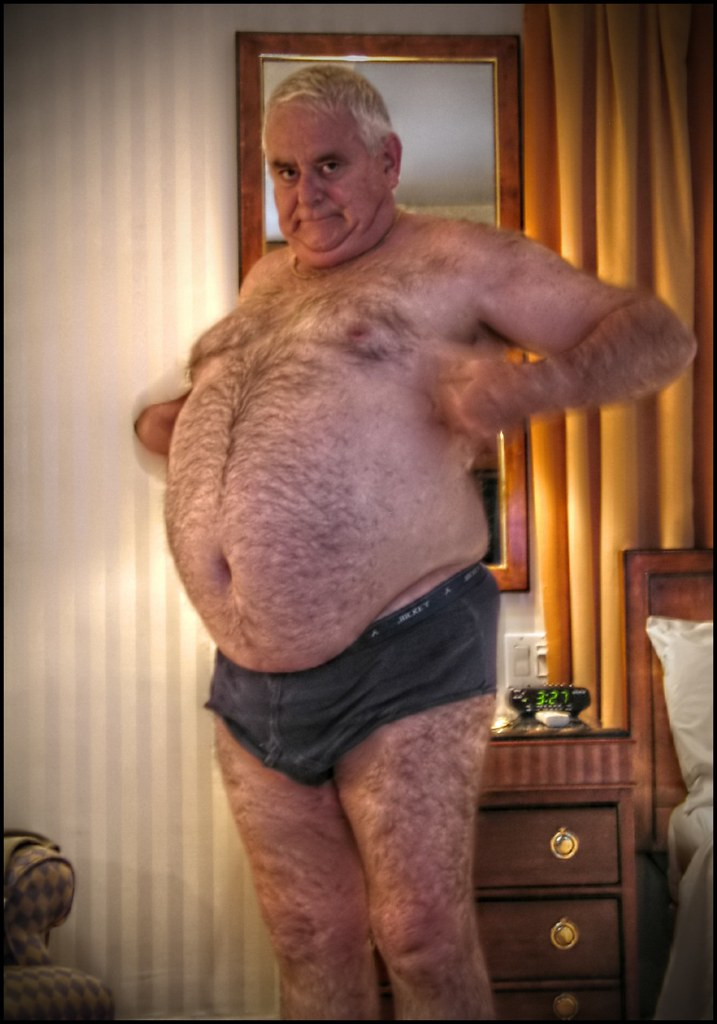 Mature chubby gay man