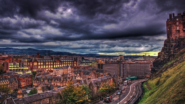 0285 - Scotland, Edinburgh, Dusk HDR