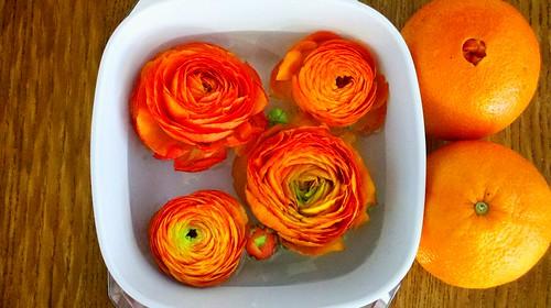 Flower/orange bowl
