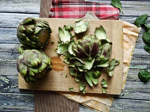 artichoke + spinach pesto