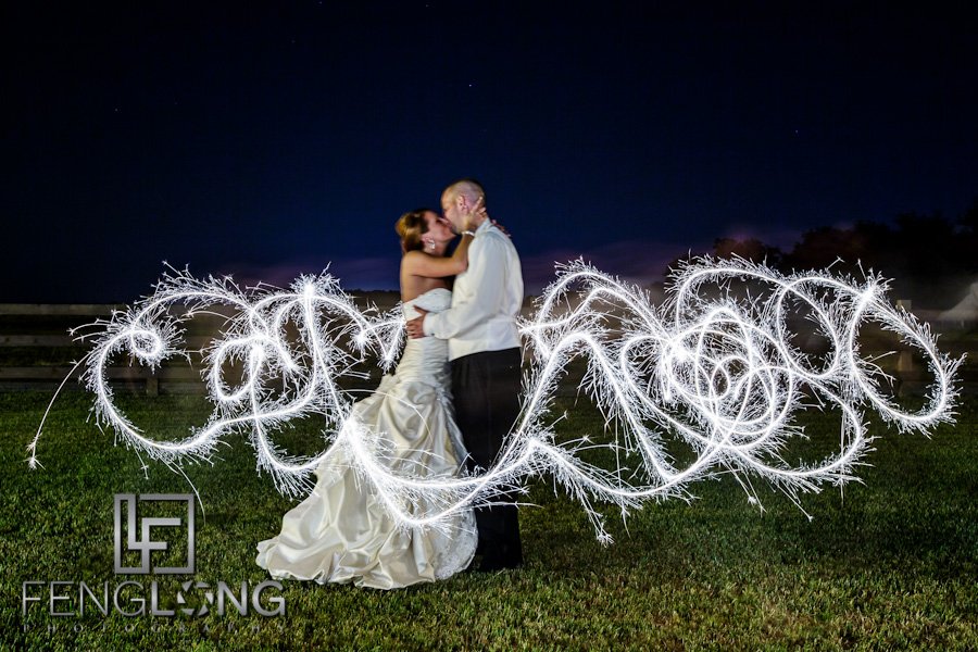 Sparkler Light Painting | Misty & Jonathan's Wedding | Tryphena's Garden | Fort Valley Perry Macon Wedding Photographer