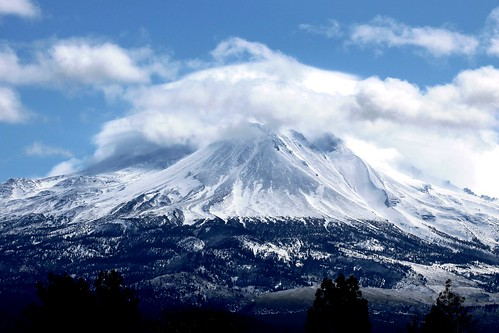 Mount Shasta in Clouds