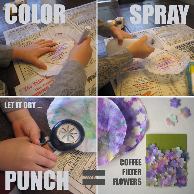 Coffee Filter Flower Step by Step Instructions 3