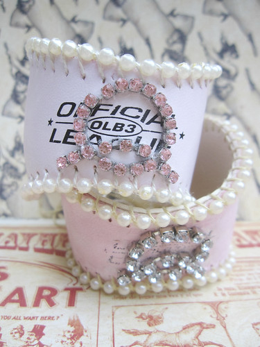 Custom Shabby Baseball Cuffs! 7