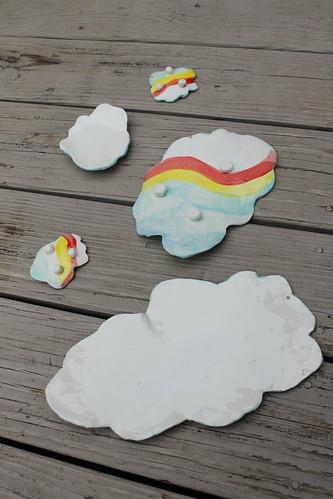 Rainbow Cloud Sushi Dishes