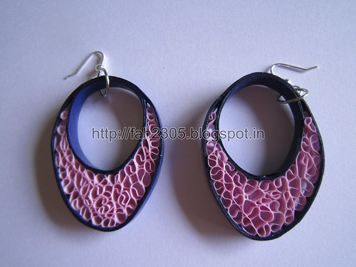 Handmade Jewelry - Beehive Quilling Paper Earrings (Blue-Pink) (1) by fah2305