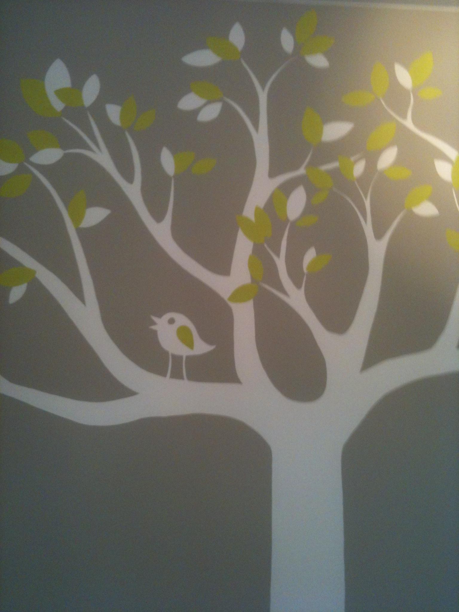 Toetie kolorie - Grijs muurschildering ...