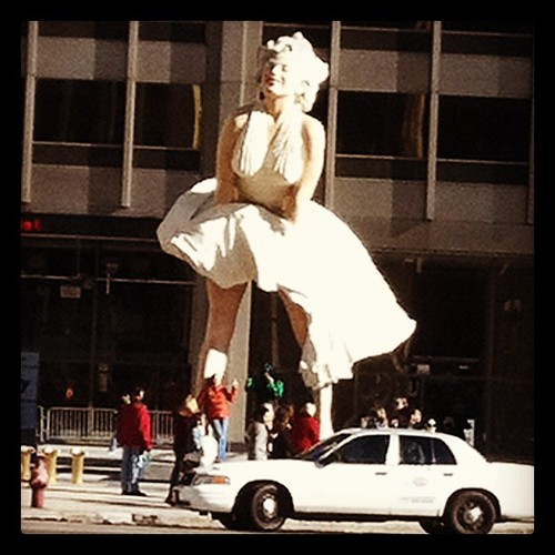 Bye bye Marilyn, good seeing you. Come back soon. by celikins