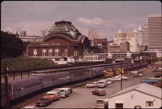 The Coast Starlight passenger train at the Tacoma, Washington depot, July 1974