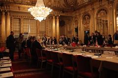 Conversations before the meeting began