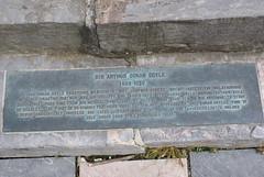 Photo of Arthur Conan Doyle brass plaque