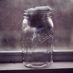 glass bottle, white, mason jar, monochrome photography, glass, close-up, still life photography, black-and-white,