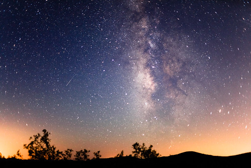 無料写真素材, 自然風景, 空, 夜空, 天の川・銀河系, 星, 流星