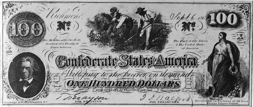 Confederate 100 dollar bill