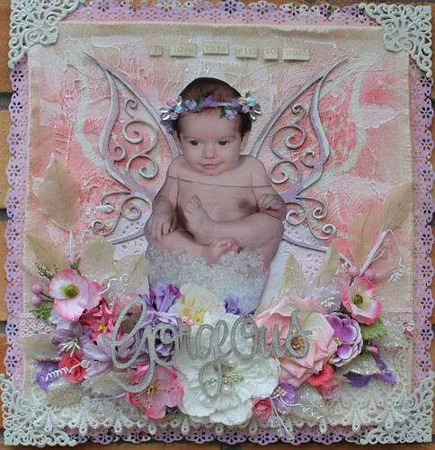 Amy Prior - Layout 1 GORGEOUS - using Big Butterfly PLUS Gorgeous Script Word 600x600
