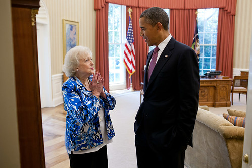 Betty White Meets President Obama