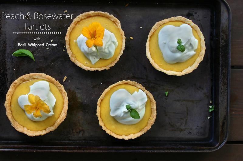 Peach Curd & Rosewater Tartlets