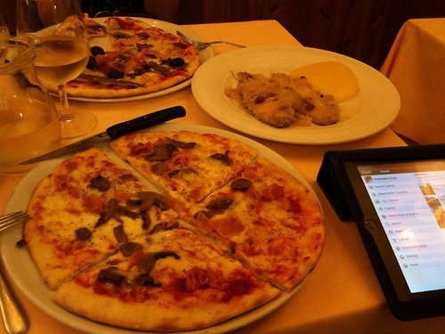 Pizza and Sarde in Saor at Aquila Negra, San Marco