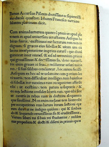 Opening page of text from Aesopus: Vita et Fabulae [Greek]. Vita et Fabulae [Latin].