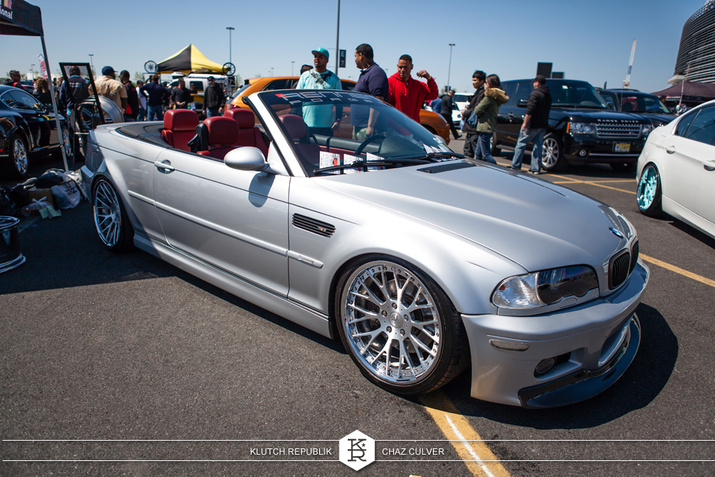 low and fitted e46 convertible at eurofest 2012