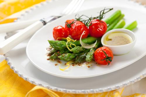 saparagus tomato salad